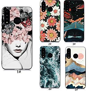 ieftine Accesorii Ceasuri-Maska Pentru Huawei Huawei P20 / Huawei P20 Pro / Huawei P20 lite Model Capac Spate Femeie Sexy / Floare Moale TPU