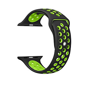 cheap Apple Watch Bands-For Apple iwatch Band strap 42mm 38mm 40mm 44mm two-tone Silicone Strap For iwatch band 4/3/2/1 Creative Double-sided Wristbands