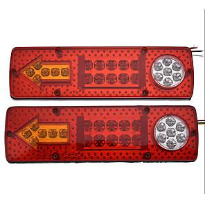 رخيصةأون الدرجات النارية وأجزاء السيارات-2 قطعة 12 فولت 23led سيارة مقطورة شاحنة الذيل ضوء الفرامل الخلفية عكس بدوره إشارة مصباح