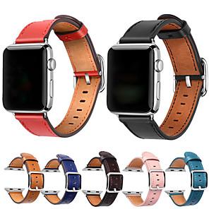 Недорогие Чехлы и кейсы для Galaxy J-Ремешок для часов для Серия Apple Watch 5/4/3/2/1 Apple Спортивный ремешок Натуральная кожа Повязка на запястье