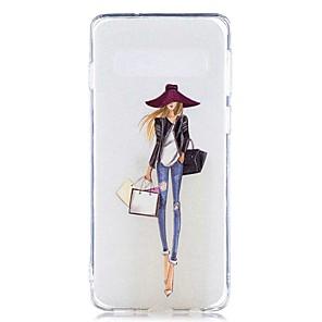 ieftine Stocare și Organizare-Maska Pentru Samsung Galaxy S9 / S9 Plus / S8 Plus Transparent / Model Capac Spate Femeie Sexy Moale TPU