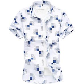 povoljno Narukvice-Veći konfekcijski brojevi Majica Muškarci Karirani uzorak Obala XXXXL