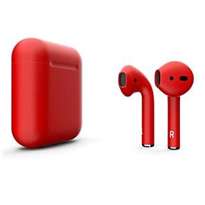 povoljno Pravi bežični uš-litbest novi i12 blackpods redpods tws istinske bežične ušne školjke mat koža bluetooth slušalice pop up za ios s mikrofonom ruke besplatne slušalice za dodir
