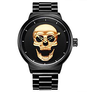 ieftine Ceasuri Digitale-HANNAH MARTIN Bărbați Ceas digital Quartz Schelet Cool Analog Negru Auriu / Un an / Oțel inoxidabil