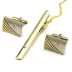 povoljno Zidni ukrasi-Mandzsettagombok Kravata Clips Formalan Broš Jewelry Zlatan Srebro Za Dnevno Rad
