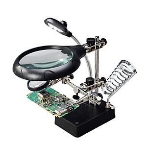 ieftine Lupe-bracket lupă 16129-c 5 leds clip auxiliar lupă lentile schimbătoare de unelte pentru sudare câmp de turnare