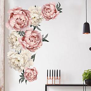 hesapli Dekorasyon Etiketleri-Güzel çiçekler duvar çıkartmaları-uçak duvar çıkartmaları ulaşım / peyzaj çalışma odası / ofis / yemek odası / mutfak