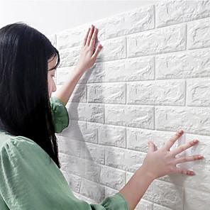 baratos Decoração de parede-Diy pe espuma 3d tijolo auto-adesivo adesivo de parede rodapé decoração transporte / paisagem sala de estudo / escritório / sala de jantar / cozinha