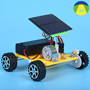 cheap Display Models-Toy Car Solar Powered Toy Educational Toy Tank Rechargeable Solar Powered DIY Kid's Girls' Toy Gift
