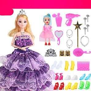 ieftine Haine Păpușă Barbie-Pentru Barbie Doll Albastru regal Rochii Pentru Fata lui păpușă de jucărie