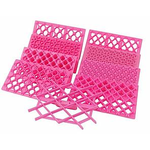 ieftine Ustensile & Gadget-uri de Copt-9buc Plastic Bucătărie Gadget creativ Pâine Rotund Dreptunghiular Pătrat Materiale pentru torturi Instrumente de coacere