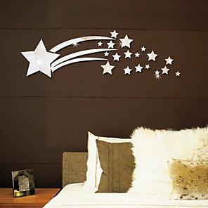 ieftine Acțibilde de Decorațiuni-stralucitoare stele autocolante 3d oglinda perete - oglinda perete autocolante forme sala de studiu / birou / sala de mese / bucatarie