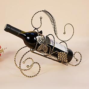 ieftine Produse de Bar-1 buc Fier Forjat Rafturi de Vin Rafturi de Vin Clasic Vin Accesorii pentru barware
