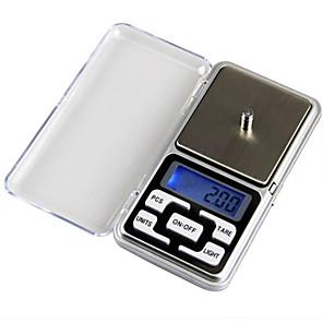 ieftine Testere & Detectoare-0.01-200g lcd-digitale ecran digitale bijuterii scară mini buzunar scară digitală acasă viață