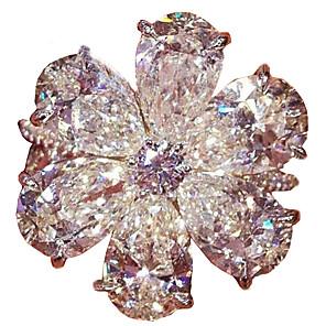 povoljno Prstenje-Žene Band Ring Prsten Izjave Kubični Zirconia 1pc Obala Drago kamenje i kristali Kamen Geometric Shape pomodan Party Dar Jewelry Geometrijski Ribe Cvijet Cool