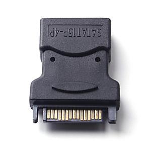 ieftine Carcase de Hard Drive-cel mai greu ide 4pin de la feminin la sata 15p conector adaptor de alimentare de hard disk
