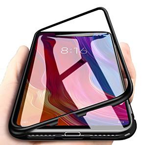 Недорогие Чехлы и кейсы для Galaxy S6 Edge-Кейс для Назначение SSamsung Galaxy S9 / S9 Plus / Note 9 Магнитный Кейс на заднюю панель Однотонный Закаленное стекло / Металл