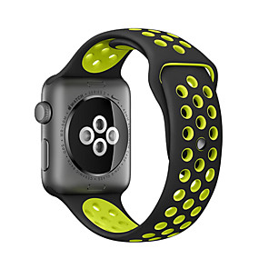 cheap Apple Watch Bands-Watch Band for Apple Watch Series 5/4/3/2/1 Apple Classic Buckle Silicone Wrist Strap  38mm 40mm 42mm 44m