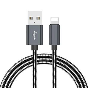 abordables Pochettes / Coques d'iPad-Câble de foudre adaptateur de câble usb en acier inoxydable à charge rapide de 2,0 m (6,5 pi) pour iphone