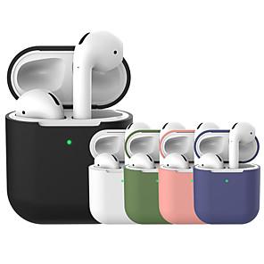 ieftine Căști-Carcasă de protecție Simplu Plin de Culoare Apple Airpods Rezistent la Șoc Rezistent la zgârieturi Solid silicon din corp / Silicon / silicagel