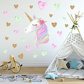 ieftine Acțibilde de Decorațiuni-creativ pentru copilarie autocolant unicorn cu pvc autocolante decorative pentru perete - autocolante pentru pereți animale animale pentru copii / grădiniță