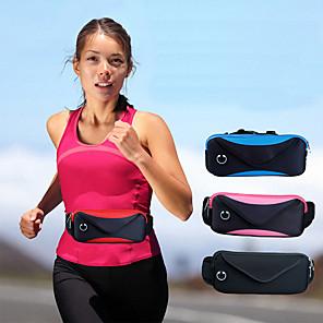Недорогие Универсальные чехлы и сумочки-сумка талия мужская и женская путешествия двойная спортивная водонепроницаемая регулируемая сумка карманы 6 дюймов