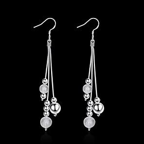 povoljno Naušnice-Žene Viseće naušnice Rese Lopta Stilski Jednostavan Glina Naušnice Jewelry Srebro Za Dnevno Rad 1 par