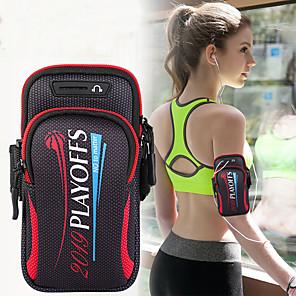 Недорогие Универсальные чехлы и сумочки-унисекс сумка сумка спортивная сумка для бега тренажерный зал рука с держателем сумка мобильный телефон ключ сумка 6,4 дюйма