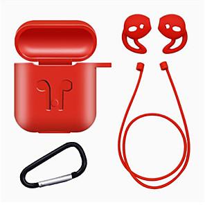 ieftine Căști-1set tpu silicon bluetooth carcasa pentru cască fără fir pentru airpods acoperire de protecție accesorii pentru piele pentru airpods Apple box de încărcare