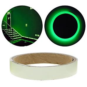 ieftine Lumini & Gadget-uri LED-verde fluorescenta autocolant noapte cu bandă luminoasă benzi decorare autocolant pentru usi de scara motociclete masina bandă luminoasă