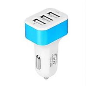 ieftine Încărcătoare Auto-Încărcător de Mașină Încărcător USB Priză EU Multi-Ieșiri / Normal 3 Porturi USB 2.1 A DC 5V pentru Παγκόσμιο