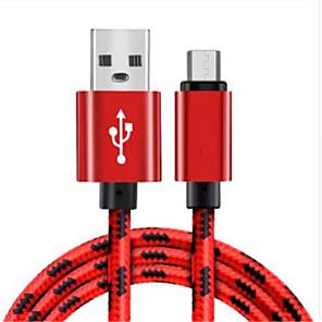 ieftine Android-Micro USB Cablu Împletit Nailon Adaptor pentru cablu USB Pentru Samsung / Huawei / LG
