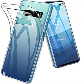 Недорогие Чехлы и кейсы для Galaxy A7-Кейс для Назначение SSamsung Galaxy S9 / S9 Plus / S8 Plus Защита от удара / Ультратонкий / Прозрачный Кейс на заднюю панель Однотонный Мягкий ТПУ