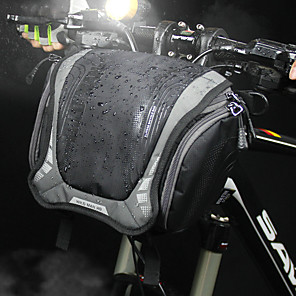 ieftine Genți Bicicletă-3 L Genți Ghidon Bicicletă Umăr Bag Impermeabil Portabil Purtabil Geantă Motor pânză Nailon Geantă Biciletă Geantă Ciclism Ciclism Exerciții exterior Bicicletă