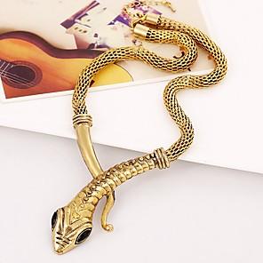 baratos Colares-Mulheres Gargantilhas Cobra cromada Dourado Prata 45+5 cm Colar Jóias 1pç Para Carnaval