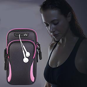 Недорогие Универсальные чехлы и сумочки-кроссовки унисекс сумка baggap спорт бег трусцой с держателем сумка мобильный телефон гарнитура сумка водонепроницаемый 6.4 дюймов сумка для телефона чехол для iphone