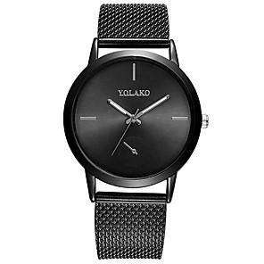 ieftine Ceasuri Bărbați-Bărbați Ceas Elegant Quartz Silicon Negru / Argint / Auriu 30 m Rezistent la Apă Ceas Casual Mare Dial Analog Casual Modă - Negru Argintiu Roz auriu Un an Durată de Viaţă Baterie