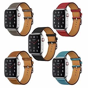 Недорогие Ремешки для Apple Watch-Ремешок для часов для Серия Apple Watch 5/4/3/2/1 Apple Классическая застежка Натуральная кожа Повязка на запястье