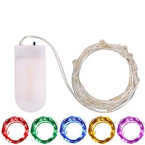 ieftine Fâșii Becurie LED-3M Fâșii de Iluminat 30 LED-uri SMD 0603 1 buc Alb Cald / Alb / Multicolor Rezistent la apă / Petrecere / Decorativ Baterii alimentate