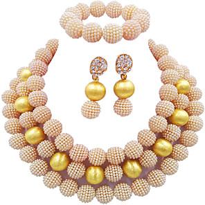 ieftine Îngrijire Unghii-Pentru femei Cercei Picătură Lănțișor Brățară Multistratificat Semințe de perle Minge Modă Elegant Africa Perle cercei Bijuterii Negru / Maro / Turcoaz Pentru Nuntă Petrecere Cadou Zilnic Festival