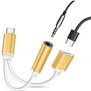 ieftine Cabluri & Adaptoare-Tip C Cablu Înaltă Viteză Oțel inoxidabil / PP Adaptor pentru cablu USB Pentru Samsung / Huawei