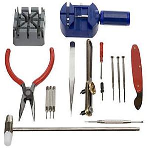 ieftine Lupe-ceas reparatii instrument kit banda pin curea de legătură remover spate deschizător 16pc