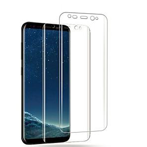Недорогие Защитные плёнки для экранов Samsung-защитная пленка для samsung galaxy s8 / s8 plus / s9 pet 2 шт. передняя защитная пленка высокого разрешения (hd) / устойчивая к царапинам / анти-отпечатков пальцев