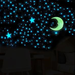 ieftine Acțibilde de Decorațiuni-Forme Perete Postituri Autocolante perete luminoase Autocolante de Perete Decorative, PVC Pagina de decorare de perete Decal Perete Decor 100 buc / Re-poziționabil