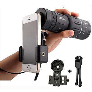 cheap Smart watches-16x52 High Power HD Monocular Telescope Lens Dual Focus Prism Scope with Night Vision –Includes Universal Smartphone Mount and Tripod Waterproof Fog Proof Compact 16X Zoom for All Outdoors