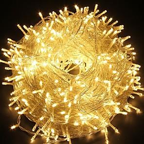 ieftine Faruri de Mașină-30m300leds zână lanternă lanternă lampă pentru copaci de Craciun de vacanță decor de nunta petrecere alb / albastru / multicolor / cald alb 220-240v 1pc