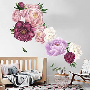 hesapli Dekorasyon Etiketleri-Dekoratif Duvar Çıkartmaları - Uçak Duvar Çıkartmaları Manzara / Çiçek / Botanik Oturma Odası / Yatakodası / Mutfak / Tekrar Pozisyon