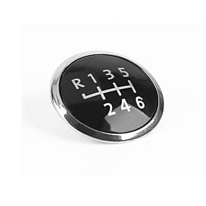ieftine Conectori-Buton de schimbare a vitezelor 6 Buton de acoperire a capacului Capac de garnitură Carcasă Style Carcasa decorativă Capacul de argint pentru VW Transporter T5 / T5.1