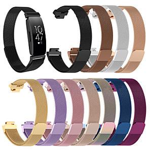 Недорогие Ремешки для спортивных часов-Ремешок для часов для Fitbit Inspire HR Fitbit Миланский ремешок Нержавеющая сталь Повязка на запястье