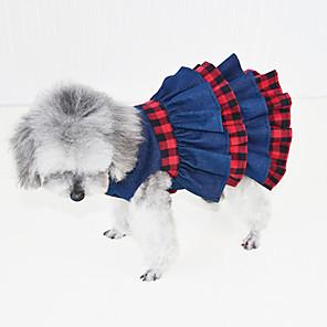 ieftine Pet Costume de Crăciun-Pisici Câine Rochii Σμόκιν Îmbrăcăminte Câini Albastru Închis Costume Denim Englezesc Petrecere Cowboy Casul / Zilnic XS S M L XL